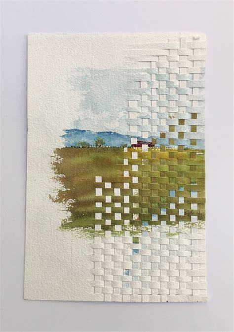 woven original watercolor painting fine art home decor