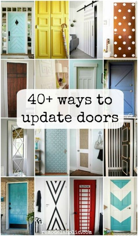 hollow core doors ideas  pinterest diy