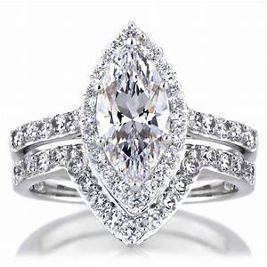 2018 popular marquise diamond engagement rings settings for Marquise wedding sets rings