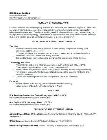 Resume Pattern Sle by Esl Conversation Resume Flowersheet