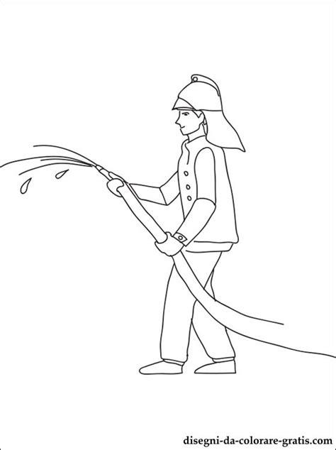 disegno  pompiere da colorare disegni da colorare gratis