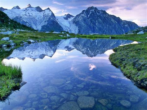 beautiful landscape hd wallpaper water mountains  snow