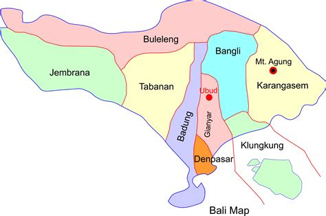 bali map fabulousubudcom