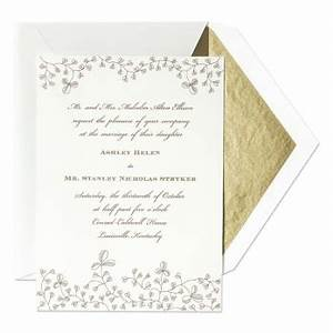 clover vine wedding invitations paperstyle With la d vine wedding invitations