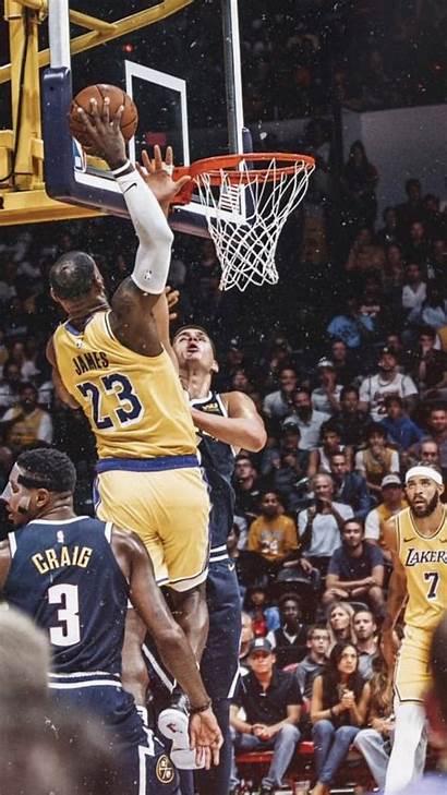 Lebron Lakers James Dunk Basketball Kobe Poster