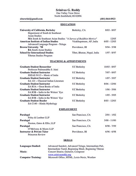 academic resume sle shows you how to make academic