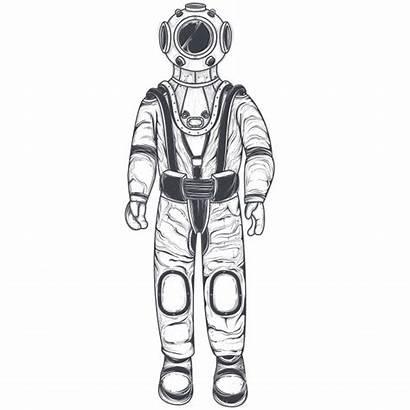 Astronaut Vector Space Helmet Suit Cosmonaut Silhouette