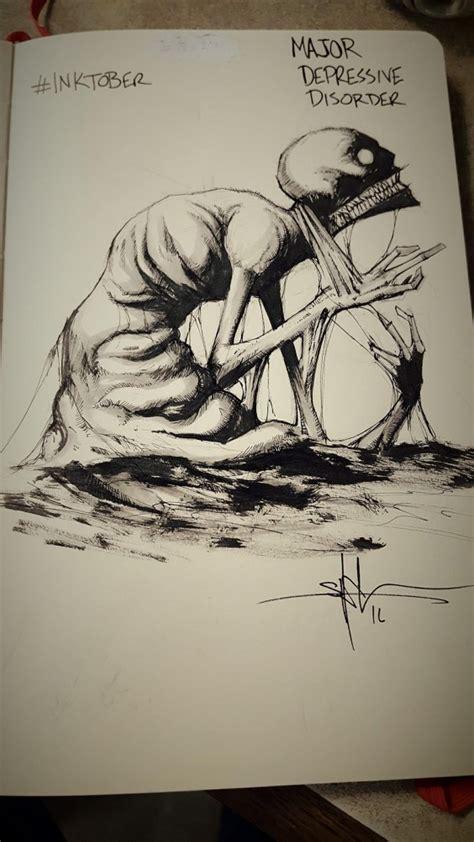 dark drawings capture  struggle