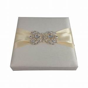 handmade ivory embellished boxed wedding invitation With mix box wedding invitations