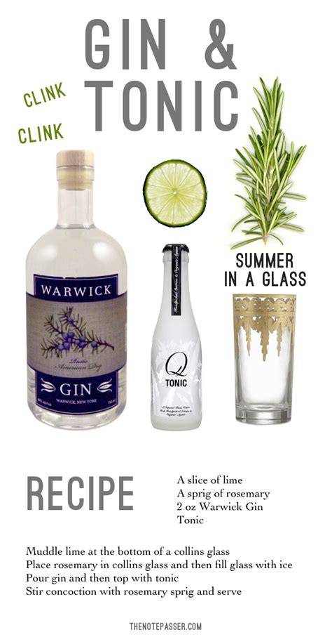 gin and tonic recipe how to throw a gin tasting part 3 the note passer