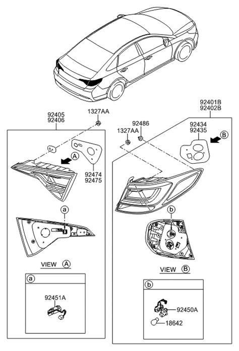 2016 Hyundai Sonata Hybrid Rear Combination Lamp