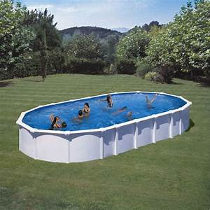 Piscine En Acier : haiti piscine acier 810x470 h132 cm achat vente ~ Melissatoandfro.com Idées de Décoration