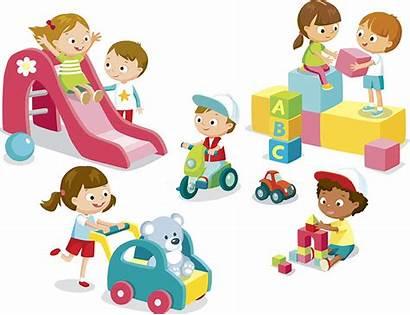 Toys Children Play Kindergarten Playing Talk Happy