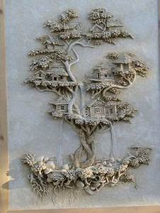 1000 images about mud wall sculpturs on pinterest With what kind of paint to use on kitchen cabinets for bas relief wall art