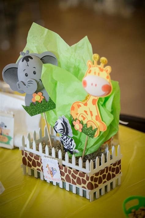 safari themed baby shower centerpiece baby shower baby