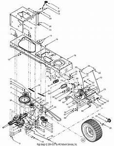 Troy Bilt 13ax609g063  2001  Parts Diagram For Front Drive