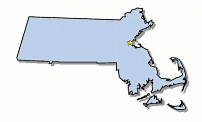 Massachusetts Map Clipart State Boston Capital Outline