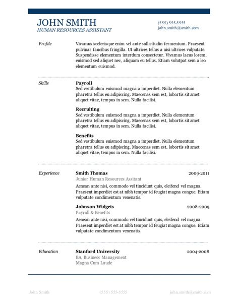 A Resume Template For Microsoft Word 50 free microsoft word resume templates for