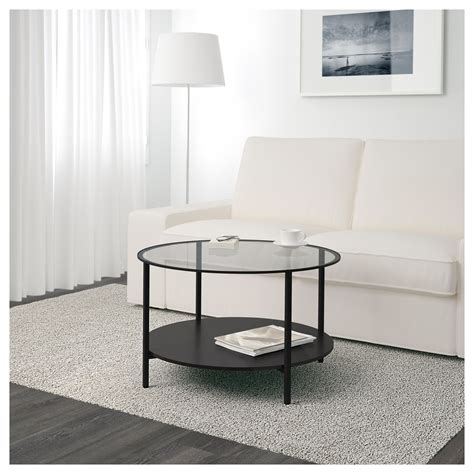 vittsj coffee table black brown vittsjö coffee table black brown glass 75 cm ikea