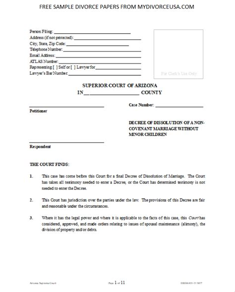 printable  oklahoma divorce papers instructions