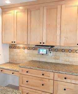 Tumbled Marble Kitchen Backsplash Kitchen Tile Backsplash Remodeling Fairfax Burke Manassas Va Design Ideas Pictures Photos