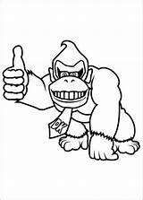 Coloring Kong Donkey Pages Printable sketch template