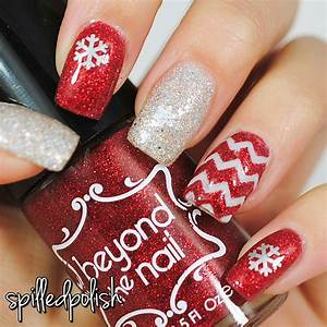 Red & Silver Christmas Nails nail art by Maddy S ...