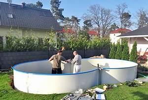 Wasseruhr Einbauen Anleitung : aufbau von stahlwand pools in 9 schritten poolsana der ~ A.2002-acura-tl-radio.info Haus und Dekorationen