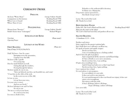 catholic wedding programs for a non mass ceremony becoming a wedding planner and photographer