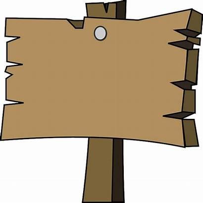 Plain Wood Signpost Empty Clip Vector Signal