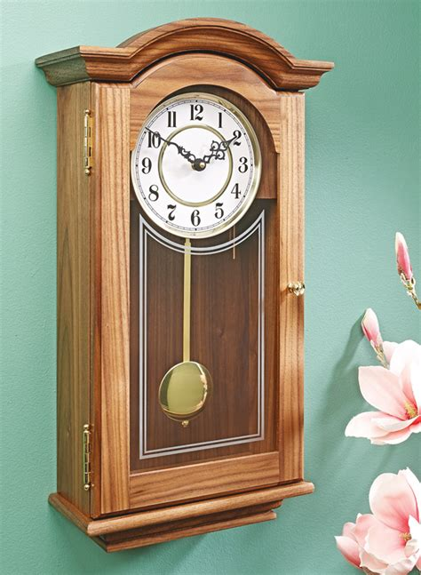traditional wall clock woodworking project woodsmith plans