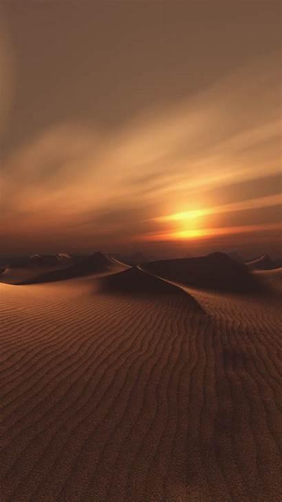 Desert Sunset Dunes Sand Sky Background Landscape