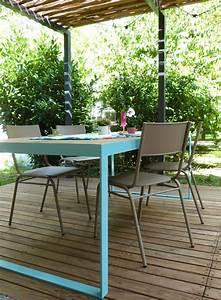 Table De Jardin Bois Et Metal : table de jardin m tal et bois couture turbulences blog pinterest jardins table ~ Teatrodelosmanantiales.com Idées de Décoration