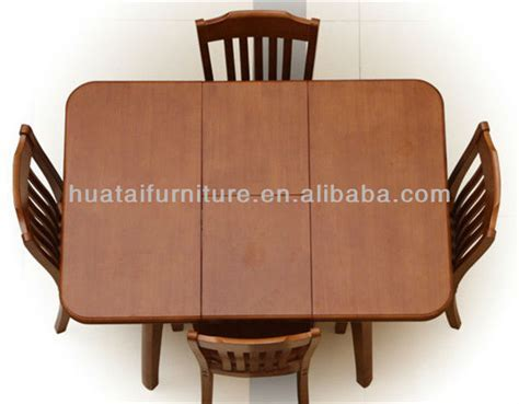 Solid Wood Folding Dining Table And Chairs Dining Room