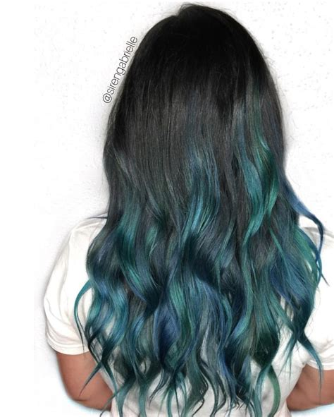 Mermaid Hair Balayage Blue Hair Green Hair Unicornhait