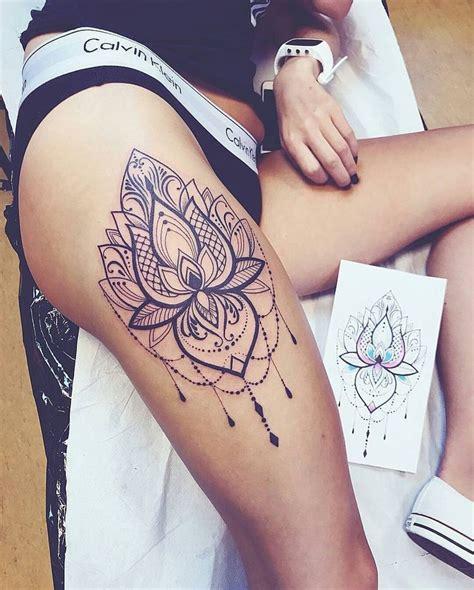 leg mandala tattoo tattoo mandala black pretty