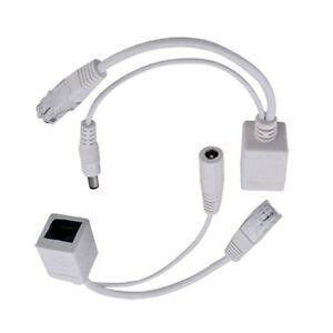 White Power Over Ethernet Passive Poe Adapter Injector