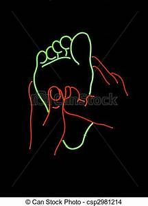 Stock Neon foot massage sign stock image images
