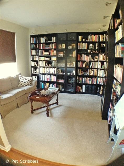 library room design library home office makeover hometalk