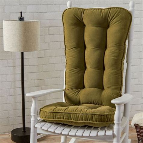 moss microfiber reversible rocking chair jumbo size