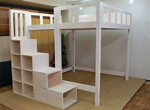 Diy Loft Bed With Storage Ana White Build A Rustic Modern