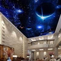 lovely space wall mural Modern Wallpaper 3D Wall Murals For Living Room Ceiling Mural Star Planet Universe Space Custom ...