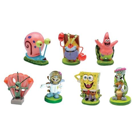 spongebob fish tank ornaments spongebob squarepants 174 2 quot aquarium ornaments 7 set