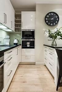 Cuisine Noir Et Blanc : cuisine blanc et noir comment amnager une cuisine en ~ Melissatoandfro.com Idées de Décoration