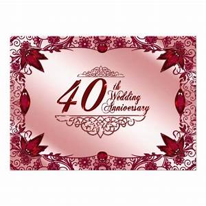 40th anniversary invitations quotes for 40th wedding anniversary invitations