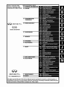 Infiniti G35 Sedan Model V35 Series 2005 Service Manual Wiring Diagram