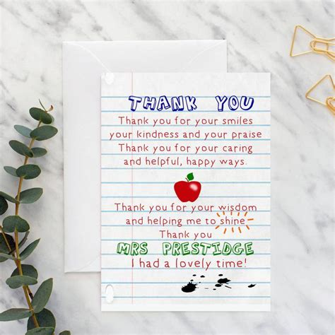 teacher   poem card   teacher gifts