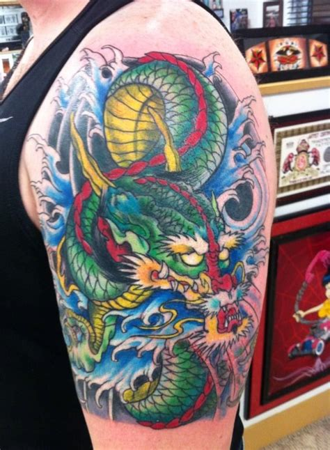 color dragon tattoo  rick aggro color tattoos