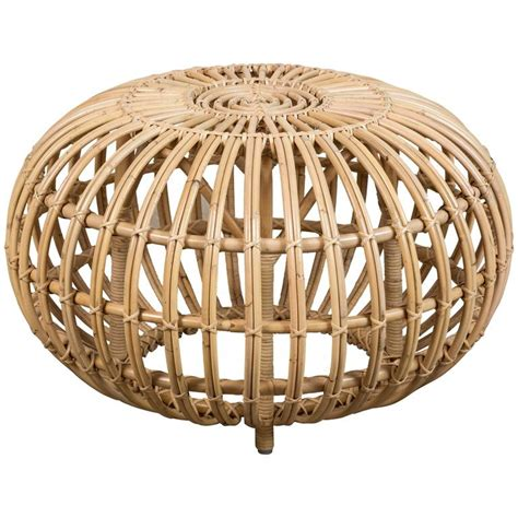 small ottomans for sale small rattan ottoman by franco albini re edition for sale