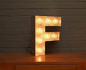 Light up marquee bulb letters f by goodwin goodwin for How to make light up letters